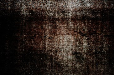 old grunge wall texture with vignette
