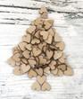 Xmas tree made of clips
