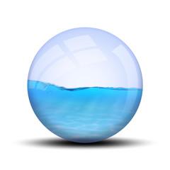 eau dans bulle : A