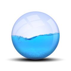 Eau dans bulle : B