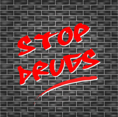 Vector stop drugs concept