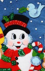 christmas sock detail