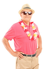 Relaxed senior gentleman with sunglasses
