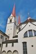 canvas print picture - Kloster Muri, Kirche