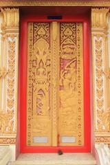 temple door  at Wat Khun Sai, Ayutthaya