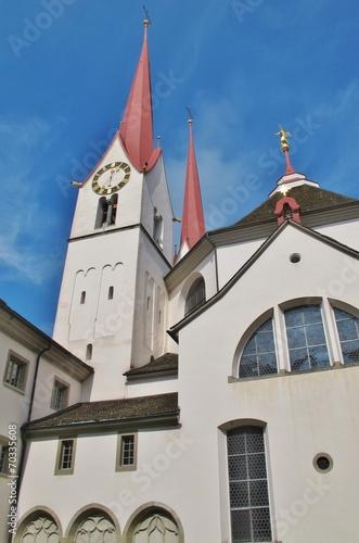 canvas print picture Kloster Muri, Kirche