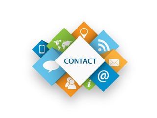 CONTACT CUBES (smartphone social media marketing)