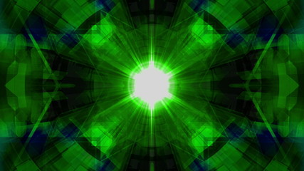 Blue Green Geometric VJ Looping Animated Background