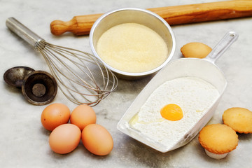 short pastry basic  ingredients and cookies