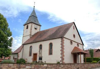 Eglise protestante de Cleebourg en Alsace, Bas Rhin