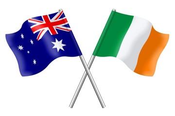 Flags: Australia and Ireland