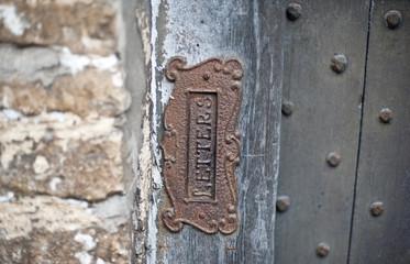 Old letter slot
