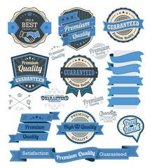 Set of vintage badges and label design elements
