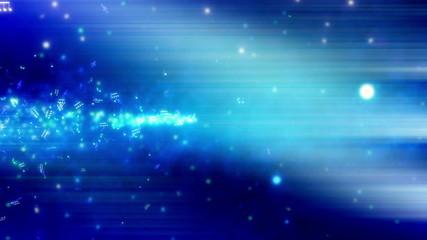 Blue Music Streak Looping Animated Background