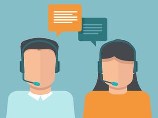 Vector flat call center operators