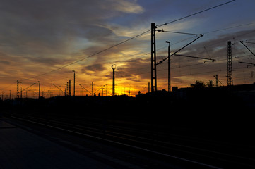 Morgens am Bahnhof