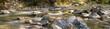 Leinwandbild Motiv Gebirgsfluß Panorama
