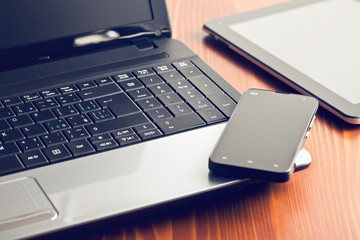 laptop and smartphone