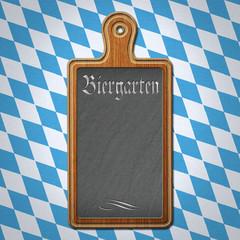 Schild Holz Biergarten Bayern