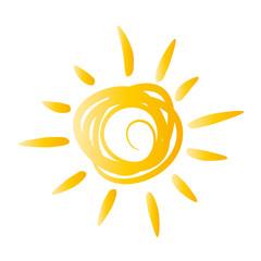 gelbe Sonne - gemalt