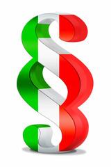3d Paragraph Italien grün, weiß, weiss, rot, freigestellt
