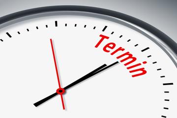 Uhr mit Text