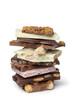 Variety of swiss chocolate