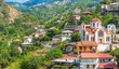 panoramic view of the village Moutoullas. Nicosia district. Cypr