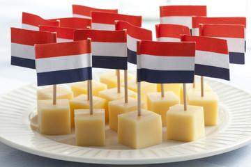 Edam cheese cubes