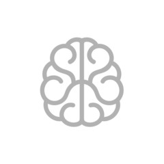 Brain Icon. Vector on White Background
