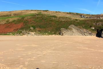 small sandy beach in North Sea