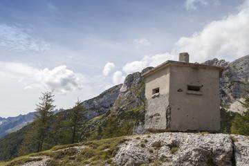 Concrete bunker of world war