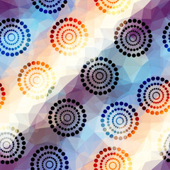 Abstract pattern with ethnic circles.