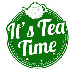 It's tea time stamp
