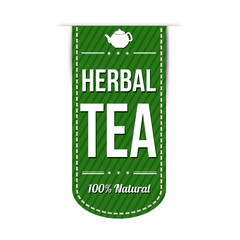 Herbal tea banner design