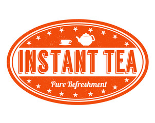 Instant tea stamp