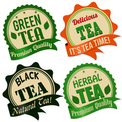 Tea label, sticker or stamps