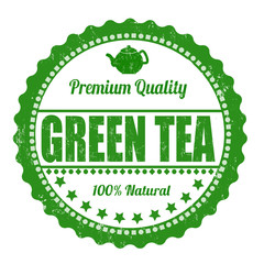 Green tea stamp