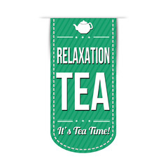 Relaxation tea banner design