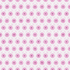 Pink and White Flower Repeat Pattern Background