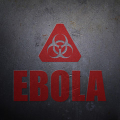 Ebola biohazard alert sign