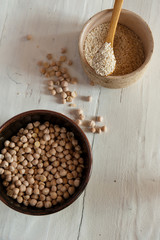 Sesame seeds with chickpeas