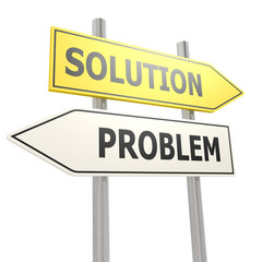 Problem solution road sign