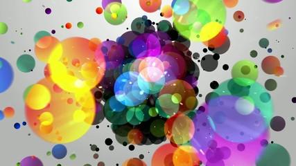 взрыв  шариков