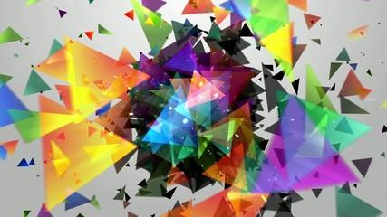 взрыв  треугольников