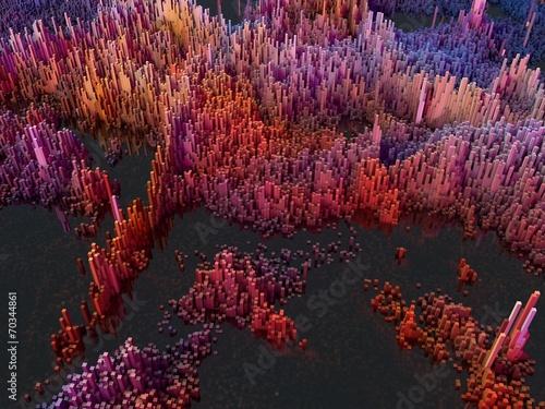 canvas print picture abstrakte Landschaft