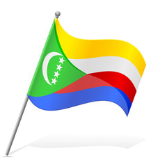 flag of Comoros vector illustration