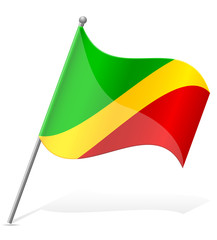 flag of Congo vector illustration