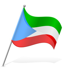 flag of Equatorial Guinea vector illustration