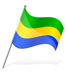 flag of Gabon vector illustration